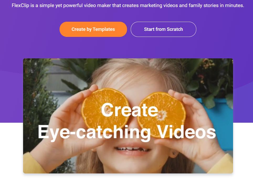 Flexclip Online video tool
