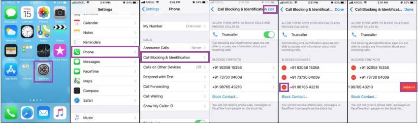 unblock number