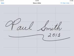 A+Signature iPhone App