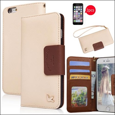 Ailun wallet case for iPhone 6 plus