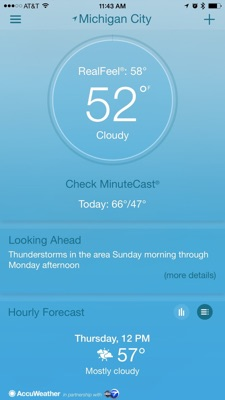 AccuWeather platinum iphone app