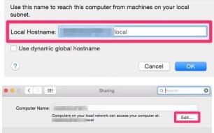 change hostname mac os x