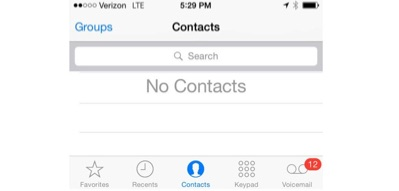 Contacts Missing iPhone