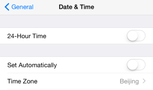 Date and time in iOS
