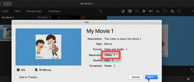 Enabled option imovie