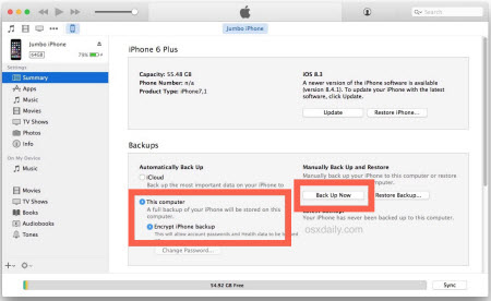 Encrypt iPhone backup