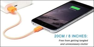 Fcolor Lightning to USB Cable for iPhone and iPad
