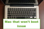mac that won't boot