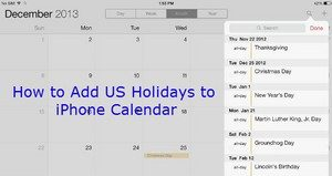 How to Add US Holidays in iCal3