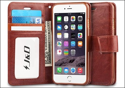 J&D wallet case for iPhone 6