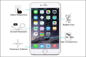 OMOTON Tempered Glass Screen Protector for iPhone 7 Plus