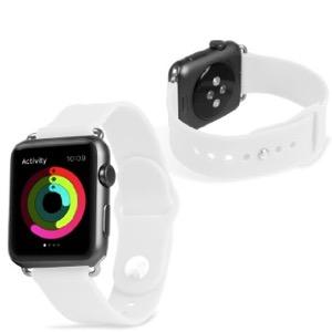 Olixar soft silicone rubber apple watch sport strap