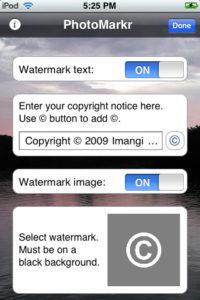 PhotoMarkr iPhone App