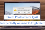Photos force quit unexpectly on mac