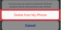 Remove Email Contacts from an iPhone