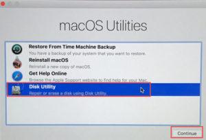 Repair disk utility