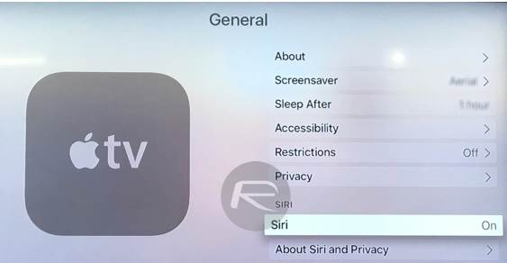 Siri Apple TV 4