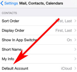 Tap-on-Default-Account-in-iPhone-Mail-Settings