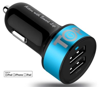 TopG iPhone 6, 6 Plus Car Charger