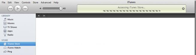 accessing iTunes store