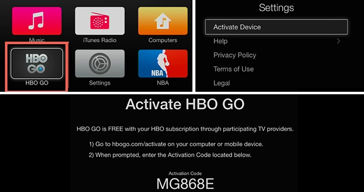 How to Activate HBO GO on your Apple TV - HBO GO