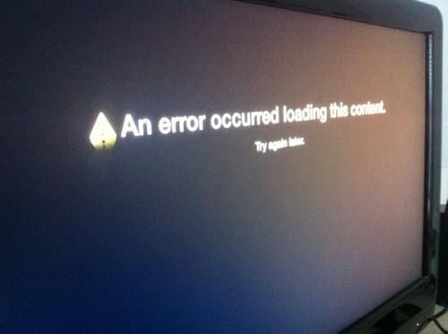 Apple TV content error