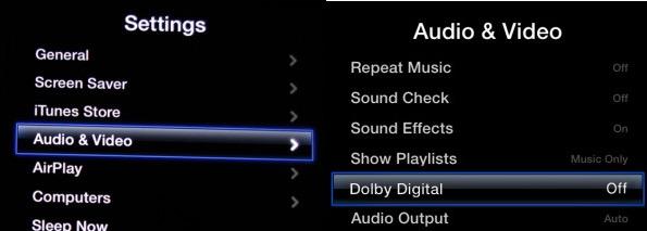 Apple TV dolby digital off