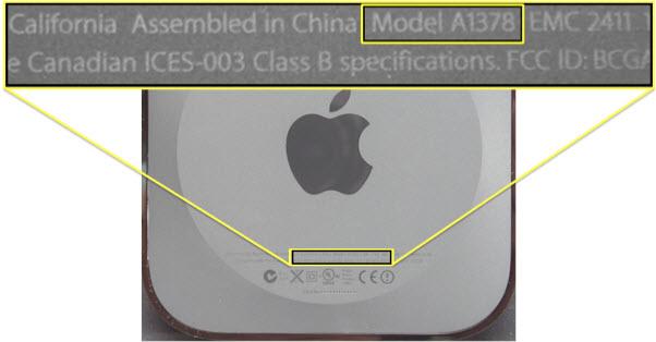 Apple TV model number