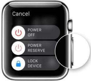 Apple Watch restart power off