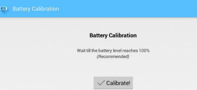 battery caliberation