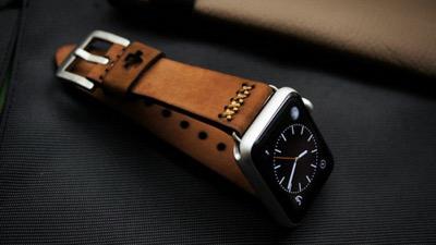 Blackforest Atelier Handmade vintage Leather strap for Apple watch