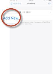 blocked add new