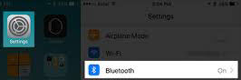 bluetooth on