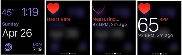 check your heart rate Apple Watch
