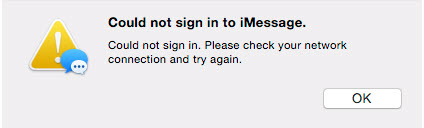 could not sign in to imessage