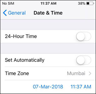 date &time manually