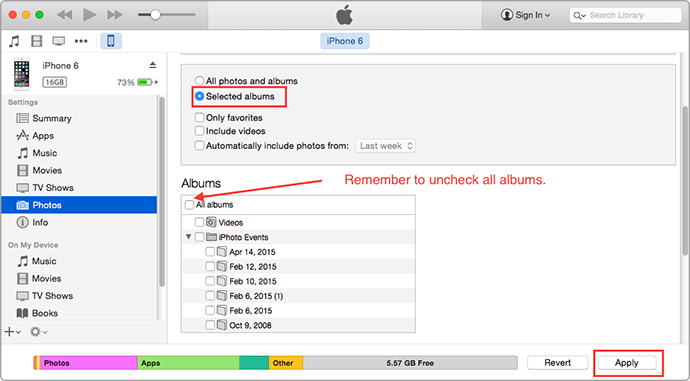 delete photos from iphone ipad photo library1