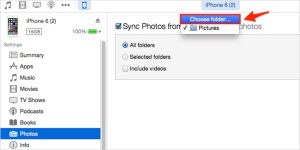 deleting synced photos by creating new folder