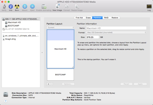 disk utility partition