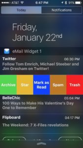 eMail Widget iPhone app