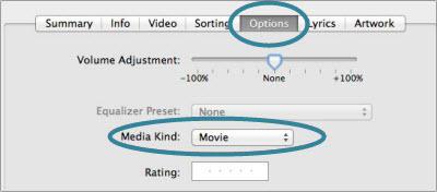 itunes File media kind movie