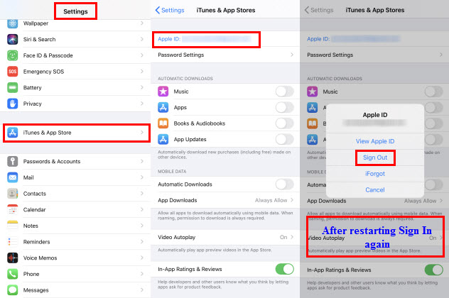 iTunes and App Store Settings
