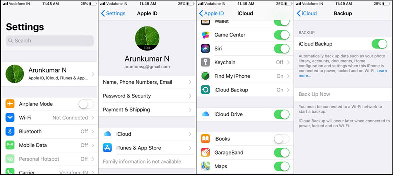 how to go back to factory setting iphone
