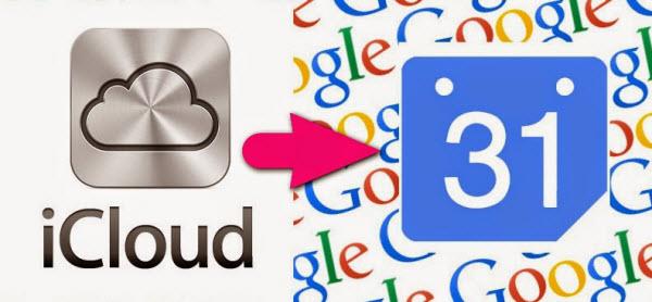 iCloud calender to Google calender