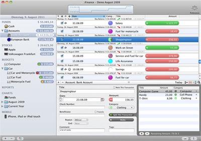 ifinance Mac app