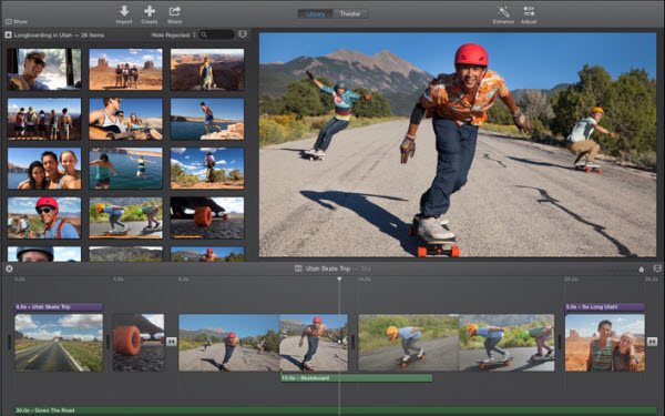 iMovie screen