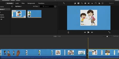 importing file in iMovie