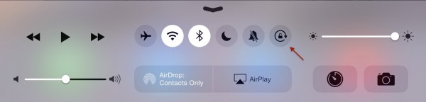 iPad control center