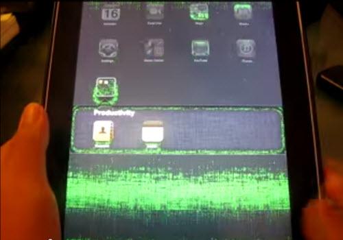 iPad green screen
