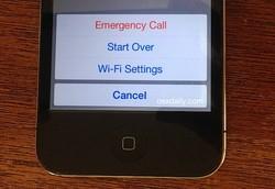 iPhone activation error menu